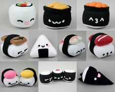 Spam Musubi & Egg Nigiri Sushi Plush .pdf Sewing Pattern