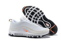 Zero Defect Nike Air Max 97 Premium SailAmarilloUniversity RedBlack 312834 102 Sneakers Women's Men's Running Shoes