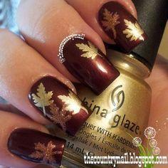 fall leaves nail art designs - Google Search