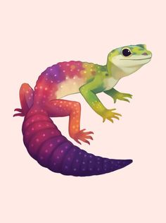 Possible tatoo idea of leooard gecko Cute Lizard, Cute Gecko, Cute Animal Drawings, Cute Drawings, Horse Drawings, Cute Creatures, Fantasy Creatures, Art Mignon, Cute Reptiles