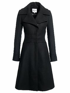 £295.00 Reiss Coco Fit And Flare Coat, Black, M
