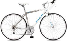 Rear Derailleur Shimano Sora GS, Fuji Compact Aluminum with Power Diamond shape down tube, Double water bottle mounts. Flat Bar Road Bike, Bicycle Disc Brakes, Road Bike Women, Commuter Bike, Bike Reviews, Mtb Bike, Bicycle Design, Road Bikes, Fuji