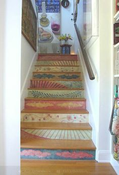 Decorating Stair risers | Monday Morning Style - How to Decorate Stair Risers | Interior Design ...