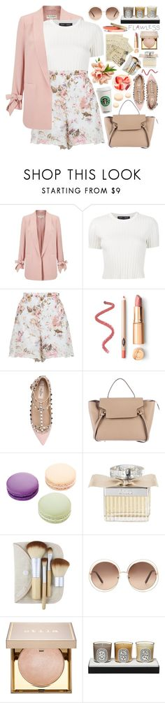 """""""2589. There is a difference between giving up and knowing when you have had enough."""" by chocolatepumma ❤ liked on Polyvore featuring Miss Selfridge, Proenza Schouler, Zimmermann, Valentino, CÉLINE, Ladurée, Chloé, Stila, Diptyque and Voz Collective"""