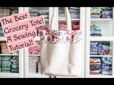 My favorite grocery tote! A FREE easy sewing tutorial! Coin Purse Tutorial, Zipper Pouch Tutorial, Tote Tutorial, Tutorial Sewing, Sewing Tutorials, Sewing Crafts, Sewing Projects, Bag Tutorials, Sewing Ideas