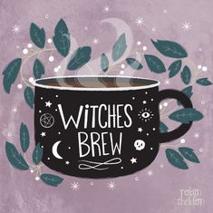 Witches Brew - Robin Sheldon {illustration & design}  Been in a witchy mood lately. Is it October yet?