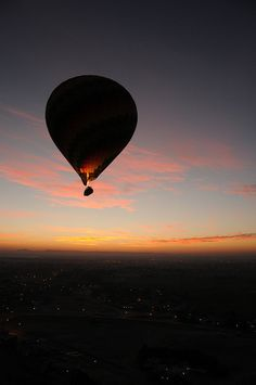 Sunrise balloon ride over Valley Of The Kings, Luxor Egypt