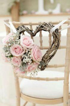 Wedding deco wood rose