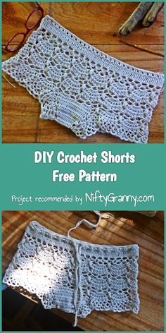 Today we have another dose of summer crochet free patterns. Just look at these beautiful Crochet Shorts Free Patterns, and make them before summer is gone! Diy Crochet Shorts, Crochet Shorts Pattern, Diy Shorts, Crochet Diy, Crochet Woman, Crochet Clothes, Crochet Patterns, Crochet Summer, Modest Shorts