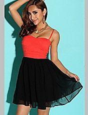Women's Strap Mesh Splicing Bandage Mini Dres... – CAD $ 47.14
