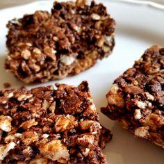 Good to be you | Recept | Crunchy chocolade-pinda snacks | http://www.goodtobeyou.nl