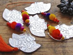 Embossed Metal Flower Garland Bohemian Chic by FoilingStar on Etsy