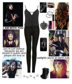 """""""❤ Date with Christian ❤ Read D!"""" by blueknight ❤ liked on Polyvore featuring NARS Cosmetics, Chanel, Forever 21, MusicSkins, CC, Vera Wang, Topshop and Miss Selfridge"""