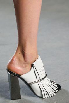 Proenza Schouler S/S 2015 fringe mule heels #shoes #runway
