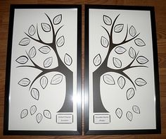 Great Idea for a family tree. I think I will try this with two canvases, and just paint/write it all. Very cute!