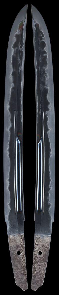 銀座 誠友堂: 寸延短刀 青龍軒盛俊造之 (TA-060616) Japanese Blades, Japanese Sword, Swords And Daggers, Knives And Swords, Samurai Swords Katana, Unique Knives, Sword Design, Arm Armor, Custom Knives