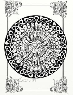 5 Celtic Knots Mandala Adult Coloring Pages PDF Download DIY Rose Knotwork 5-03 in Books, Magazines, Other Books | eBay
