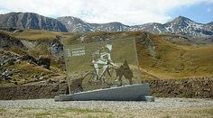 A tribute to the great Marco Pantani on the Galibier mountain