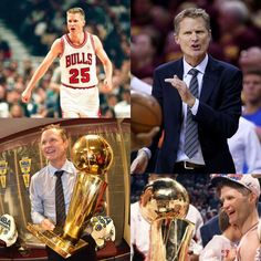 5 as a player with the Chicago Bulls & 1 NBA Championship as [a rookie] head coach of the @gswarriors! #NBAFinals Steve Kerr