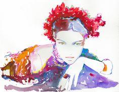 Alta+calidad+moda+de+acuarela+pintura+de+la+por+silverridgestudio,+$35.00