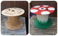 My fab caretaker made this cable reel toadstool for my EYFS outdoor area today… Outdoor Learning Spaces, Kids Outdoor Play, Outdoor Play Areas, Outdoor Education, Outdoor Fun, Outdoor School, Outdoor Classroom, Eyfs Outdoor Area, Preschool Garden