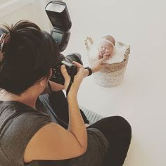 """Today I got to do a sweet """"froggy pose"""" in a basket Baby Portraits, Photographing Kids, Cute Pictures, Maternity, Basket, Poses, Sweet, Figure Poses, Candy"""