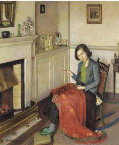 The Red Silk Shawl,1932, Harold Harvey