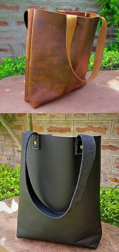 439a8d1df29d Leather Tote - Large Distressed Full Grain Brown Leather Tote Bag