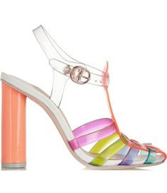 Rosa vinyl and leather sandals