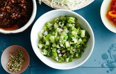 Green Pico de Gallo Recipe      A cooling and crunchy green version of the typical salsa.