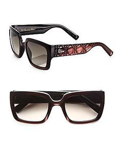 Dior Texture-Accented Rectangular Optyl Sunglasses