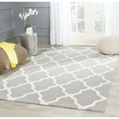 Safavieh Handmade Moroccan Cambridge Silver Wool Rug | Overstock.com Shopping - The Best Deals on 7x9 - 10x14 Rugs