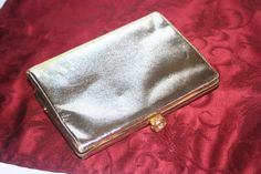 Vintage Ladies Evening Bag with Rose and Crystal Latch by Castawayacres on Etsy
