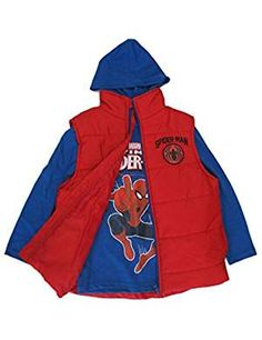 Marvel Royal Spiderman Hooded Puffer. -- More info could be found at the image url. (This is an affiliate link)