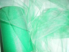 "New Emerald Green Tulle Fabric 5 yards length x 6"" wide"