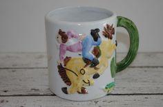 Vintage COWGIRL 3D Coffee Cup Mug~ JSNY Taiwan