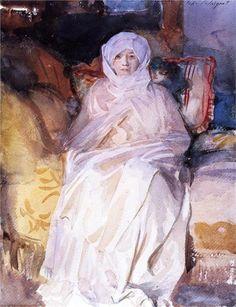 Mrs Gardner in White, 1922  John Singer Sargent