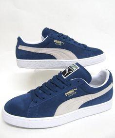 Blue Puma Suede Classic Trainers
