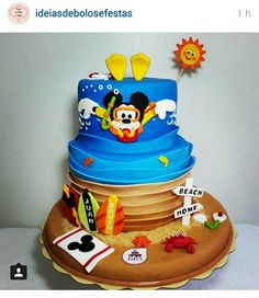 Swimming Mikey mouse cake