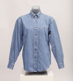 polo-denim-shirt Ralph Lauren Denim Shirt, Denim Button Up, Button Up Shirts, Consignment Online, Driftwood, Polo, Cotton, Fashion, Moda