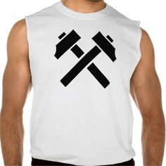 Crossed black hammer sleeveless shirt Tank Tops