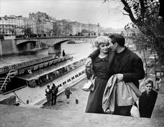 Paul Newman and his wife in Paris