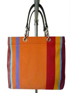 Our canvas beach totes from the Santro Collection - Toiles de Soleil canvas