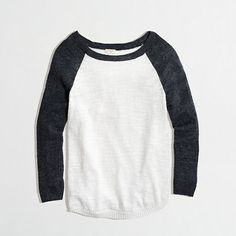 Factory J Crew airspun baseball sweater in colorblock...recommended by Big Mama