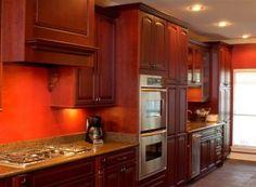 Cherry wood furniture Cherry Wood Furniture, Kitchen Furniture, Cherry Wood Kitchens, Kitchen Cabinets, Home Decor, Decoration Home, Room Decor, Kitchen Units, Cabinets