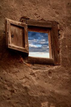 portal to the sky Looking Out The Window, Through The Looking Glass, Window View, Open Window, Old Windows, Windows And Doors, Ventana Windows, Magic Places, Land Of Enchantment