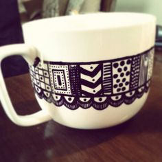 DIY sharpie cup paisley doodles?