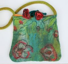 Felted Purse Bag Handmade Felt  Shoulder Purse by FrouFrouFelt