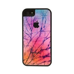 CellPowerCasesTM Cracked Tie Dye - Protective 2 Layer iPhone 5 Black... ($13) ❤ liked on Polyvore featuring accessories, tech accessories, phone cases, phones and black