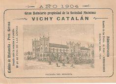 Imagen de nuestro Hotel Balneario Vichy Catalan (Caldes de Malavella) en 1904.